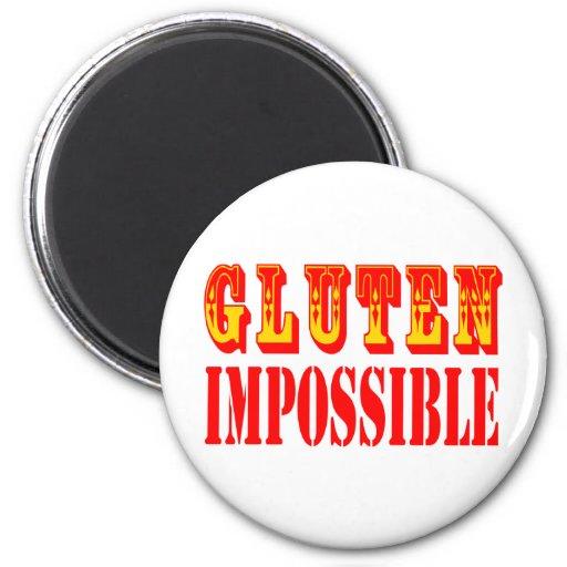 Gluten imposible imán de frigorífico