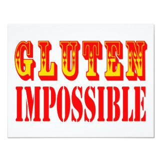 "Gluten imposible invitación 4.25"" x 5.5"""
