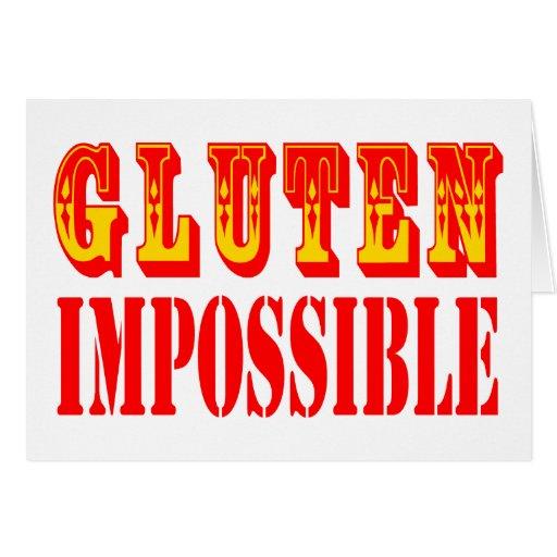 Gluten imposible tarjetón
