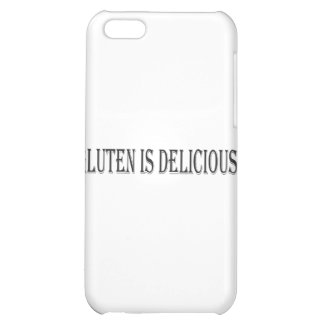 Gluten is Delicious - Clear Background Cover For iPhone 5C