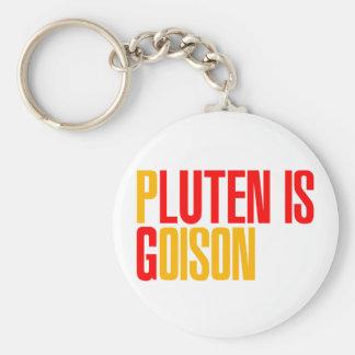 Gluten Is Poison Keychain