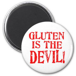 Gluten Is The Devil 2 Inch Round Magnet