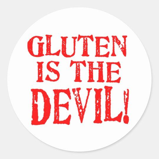 Gluten Is The Devil Classic Round Sticker