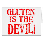 Gluten Is The Devil Greeting Cards