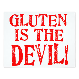 Gluten Is The Devil Personalized Invitation