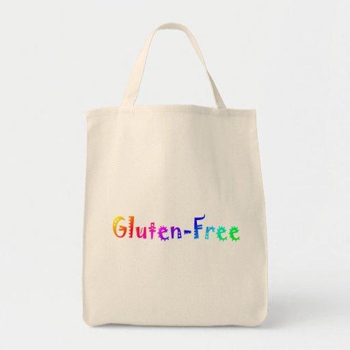 Gluten libre (brillante) bolsa tela para la compra