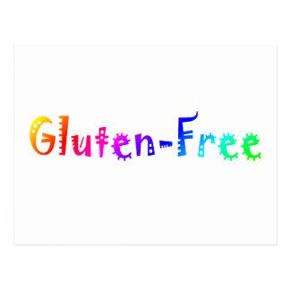 Gluten libre (brillante) postales