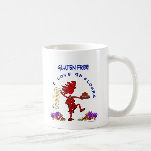 Gluten-Libre - diseño de la harina del amor GF de Taza De Café