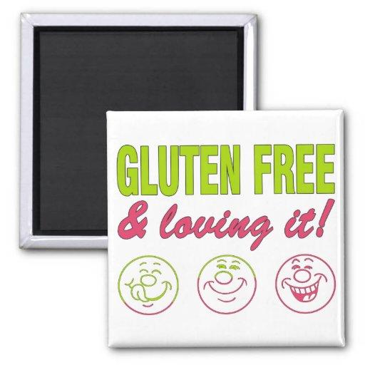 ¡Gluten libre y que lo ama! Alergia del gluten cel Imán Para Frigorífico