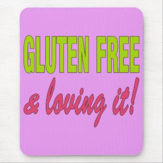 ¡Gluten libre y que lo ama! Enfermedad celiaca Alfombrilla De Raton