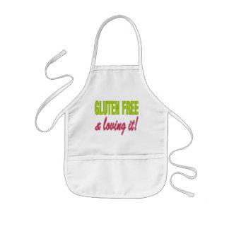 ¡Gluten libre y que lo ama! Enfermedad celiaca Delantal Infantil