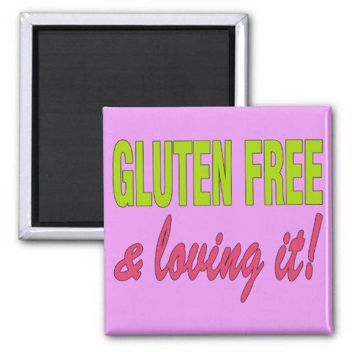 ¡Gluten libre y que lo ama! Enfermedad celiaca Imanes De Nevera