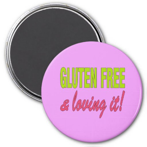 ¡Gluten libre y que lo ama! Enfermedad celiaca Imán De Frigorifico