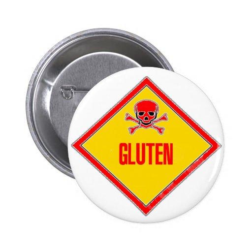 Gluten Poison Warning 2 Inch Round Button