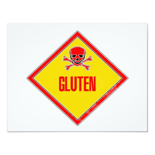Gluten Poison Warning Card