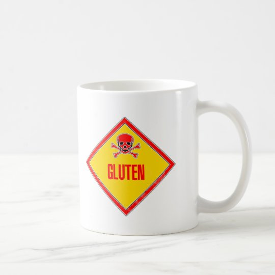 Gluten Poison Warning Coffee Mug