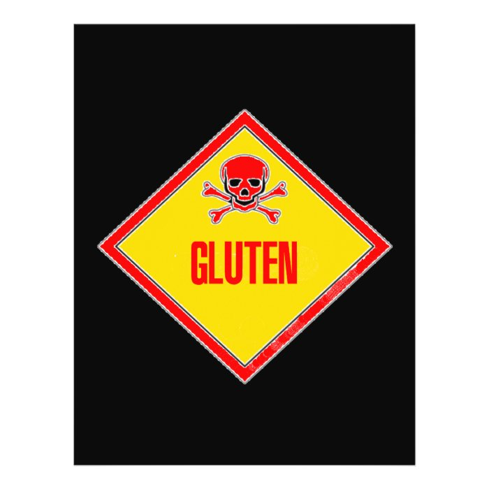 Gluten Poison Warning Flyer