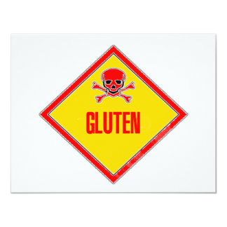 Gluten Poison Warning Personalized Invite