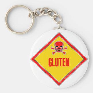 Gluten Poison Warning Keychain