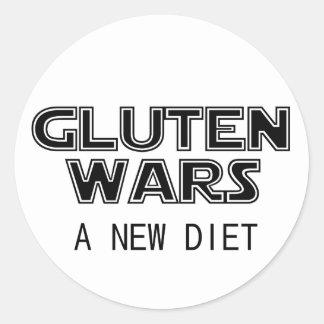 Gluten Wars: A New Diet Celiac Gluten Free Classic Round Sticker