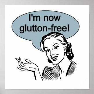 Glutton de dieta chistoso libremente póster