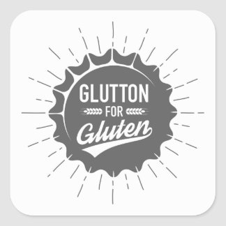 Glutton for Gluten Square Sticker