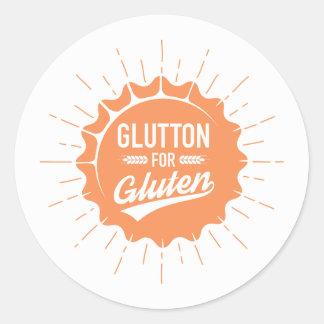 Glutton for Gluten Classic Round Sticker