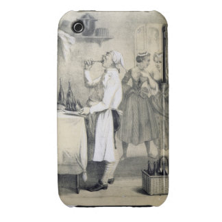 Gluttony in the Kitchen, from a series of prints d iPhone 3 Case-Mate Case