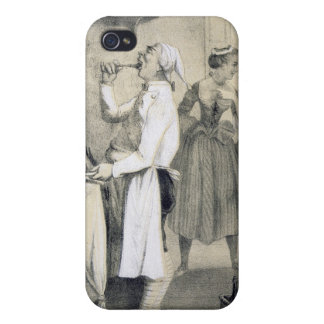 Gluttony in the Kitchen, from a series of prints d iPhone 4/4S Case