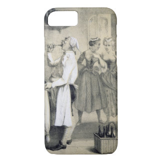 Gluttony in the Kitchen, from a series of prints d iPhone 7 Case
