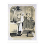 Gluttony in the Kitchen, from a series of prints d Postcard
