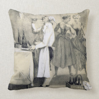 Gluttony in the Kitchen, from a series of prints d Throw Pillow