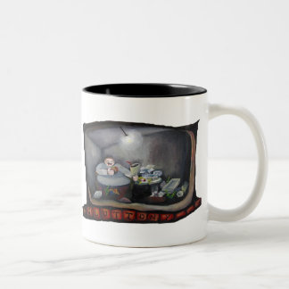 Gluttony, one of the Seven Deadly sins Two-Tone Coffee Mug