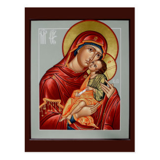 Glykophilousa Mother of God Prayer Card