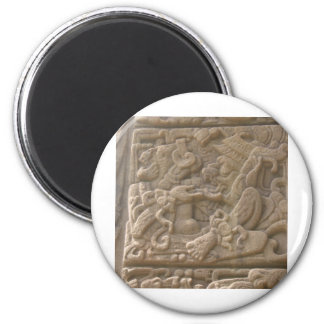Glyph maya 2 imán redondo 5 cm