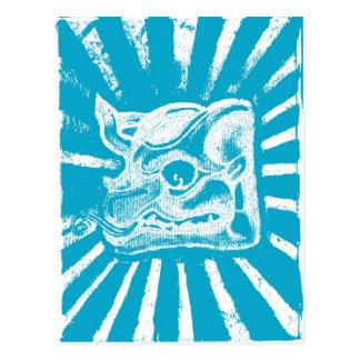 glyph maya (azul) postal