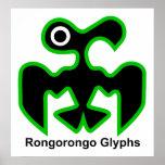 Glyphs de Rongorongo Poster