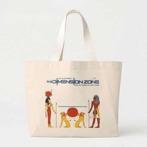 Glyphs egipcios bolsa tela grande