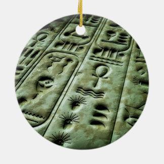 Glyphs extranjeros 02 adorno redondo de cerámica