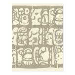 Glyphs mayas Woodblock Postal