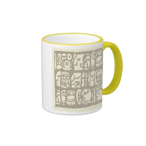 Glyphs mayas Woodblock Tazas