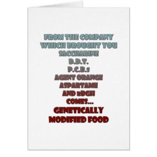 GM Food Cards