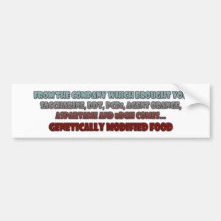 GM Foods Bumper Sticker