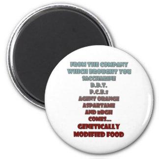 GM Foods Magnet