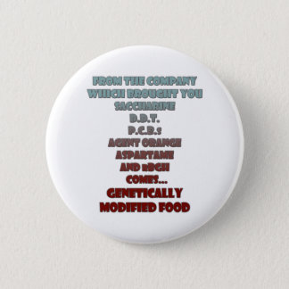 GM Foods Pinback Button