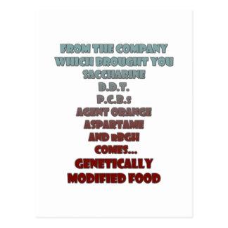 GM Foods Postcard