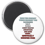 GM Foods Refrigerator Magnets