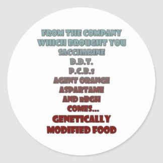 GM Foods Stickers