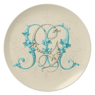 GM MG Monogram Dinner Plate