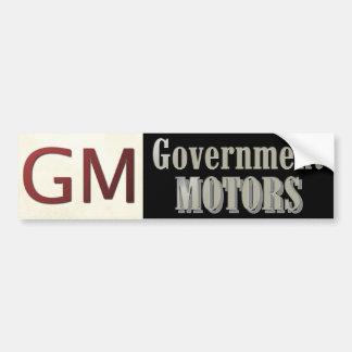 GM: Motores del gobierno Etiqueta De Parachoque